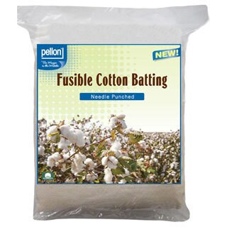 Pellon Needle Punched Fusible Cotton Batting Crib Size 45 x60-inch