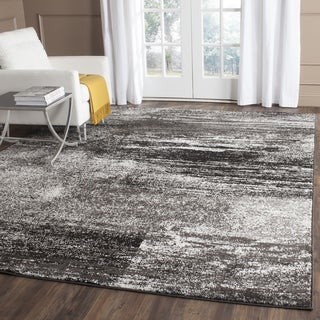 Safavieh Adirondack Modern Abstract Silver/ Black Large Area Rug (11' x 15')
