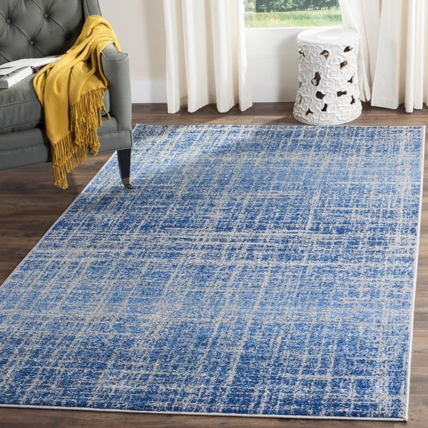 "Safavieh Adirondack Modern Abstract Blue/ Silver Rug - 2'6"" x 4'"