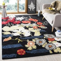 Safavieh Handmade Bella Black/ Multi Wool Rug - 2'6 x 4'