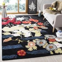Safavieh Handmade Bella Black/ Multi Wool Rug (2' 6 x 4') - 2'6 x 4'