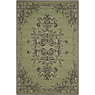Safavieh Hand-hooked Easy to Care Sage/ Multi Rug (6' x 9')