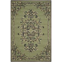 Safavieh Hand-hooked Easy to Care Sage/ Multi Rug - 6' x 9'