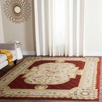 Safavieh Hand-hooked Easy to Care Ivory/ Red Rug - 6' x 9'