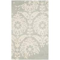Safavieh Handmade Bella Light Grey/ Ivory Wool Rug - 2'6 x 4'