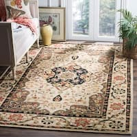 Safavieh Hand-hooked Easy to Care Cream/ Olive Rug - 6' x 9'