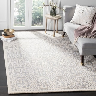 Safavieh Handmade Cambridge Black/ Ivory Wool Rug (11' x 15')