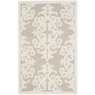 Safavieh Handmade Bella Sand/ Ivory Wool Rug (2' x 3')