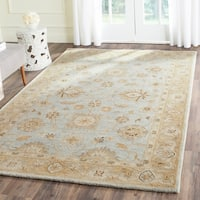 Safavieh Handmade Antiquity Light Blue/ Sage Wool Rug - 5' x 8'