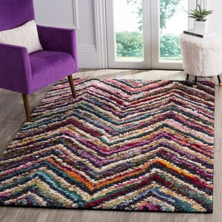 Safavieh Fiesta Shag Chevron Multicolored Rug - multi - 6' 7 x 9' 2