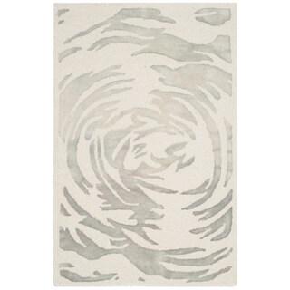 Safavieh Handmade Bella Ivory/ Grey Wool Rug (2' 6 x 4')