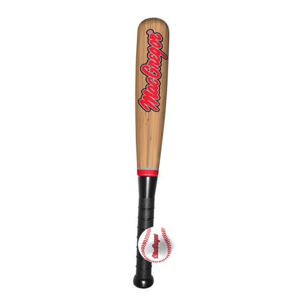 MacGregor 21-inch Foam Wood Grain Bat/Ball