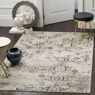 Safavieh Artifact Charcoal/ Cream Rug (5' 1 x 7' 6)