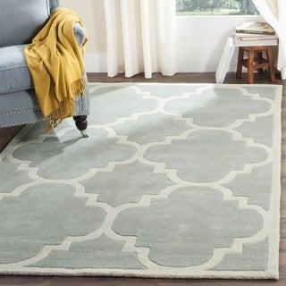 Safavieh Handmade Chatham Grey/ Ivory Wool Rug (11' x 15')