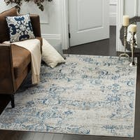 Safavieh Artifact Vintage Blue/ Cream Distressed Rug - 5'1' x 7'6'
