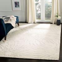 Safavieh Handmade Bella Silver/ Ivory Wool Rug - 6' x 9'