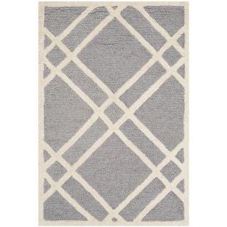 Safavieh Handmade Cambridge Silver/ Ivory Wool Rug (2' x 3')
