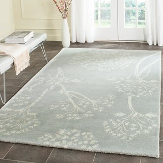 Safavieh Handmade Bella Light Blue/ Ivory Wool Rug (5' x 8')