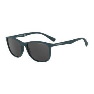 Emporio Armani Men's EA4074 550087 Green Plastic Rectangle Sunglasses