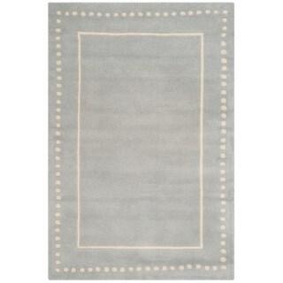Safavieh Handmade Bella Light Blue/ Ivory Wool Rug (6' x 9')