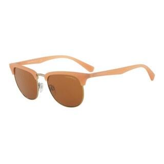Emporio Armani Men's EA4072 550173 Yellow Plastic Square Sunglasses