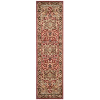 Safavieh Mahal Traditional Grandeur Natural/ Navy Rug (2' 2 x 14')