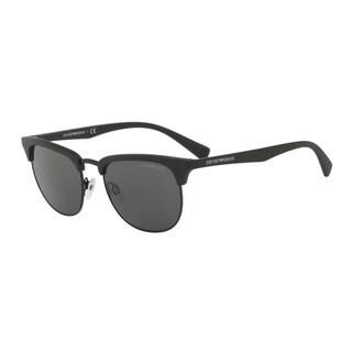 Emporio Armani Men's EA4072 504287 Black Plastic Square Sunglasses