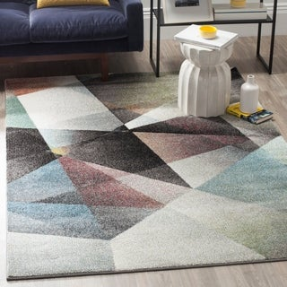 Safavieh Porcello Modern Abstract Light Grey/ Charcoal Rug (6' x 9')
