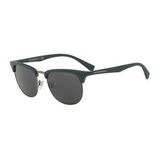 Emporio Armani Men's EA4072 550087 Green Plastic Square Sunglasses