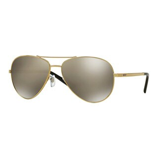 DKNY Men's DY5083 11895A Gold Metal Pilot Sunglasses