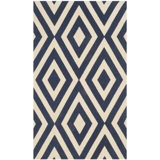Safavieh Handmade Cedar Brook Ivory/ Navy Jute Rug (2' 3 x 3' 9) - 2'3 x 3'9