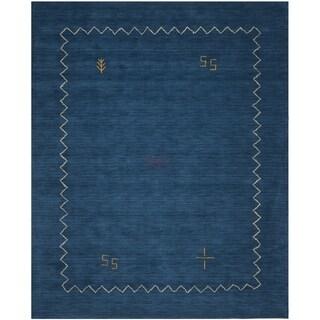 Safavieh Handmade Himalaya Blue Wool Rug (11' x 15')