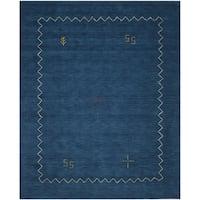 Safavieh Handmade Himalaya Blue Wool Gabbeh Area Rug - 11' x 15'