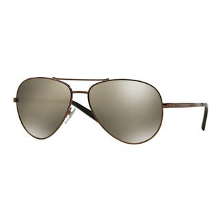 DKNY Men's DY5083 11696F Brown Metal Pilot Sunglasses