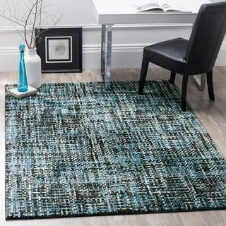 Safavieh Porcello Modern Charcoal/ Blue Rug (5' x 8')