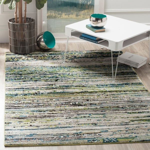 Shop Safavieh Porcello Modern Cream Green Rug 5 X 8