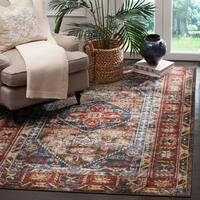Safavieh Bijar Traditional Oriental Brown/ Royal Blue Distressed Rug (6' 7 x 9')