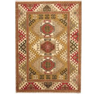 Herat Oriental Indo Hand-knotted Tribal Kazak Wool Rug (5'10 x 8')