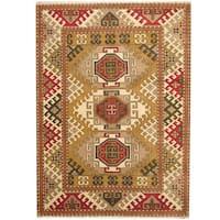 Herat Oriental Indo Hand-knotted Tribal Kazak Wool Rug (5'10 x 8') - 5'10 x 8'