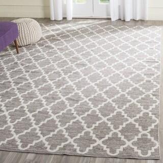 Safavieh Hand-Woven Montauk Grey/ Ivory Cotton Rug (11' x 15')