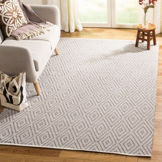 Safavieh Hand-Woven Montauk Grey/ Ivory Cotton Rug - 11' x 15'