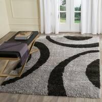 Safavieh Portofino Shag Grey/ Black Rug - 5' 1 x 7' 6