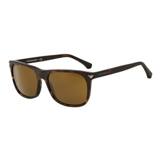 Emporio Armani Men's EA4056F 508973 Havana Plastic Rectangle Sunglasses