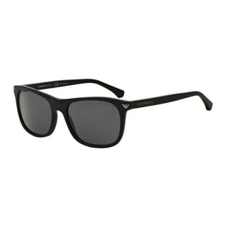 Emporio Armani Men's EA4056F 504281 Black Plastic Rectangle Sunglasses