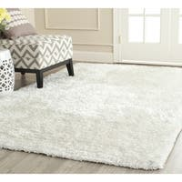 Safavieh Handmade South Beach Snow White Polyester Rug (11' x 15')