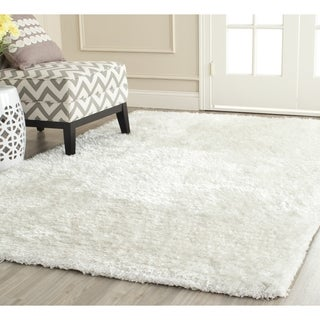 Safavieh Handmade South Beach Snow White Polyester Rug - 11' x 15'