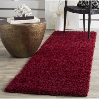 Safavieh Athens Shag Red Runner (2' 3 x 8')