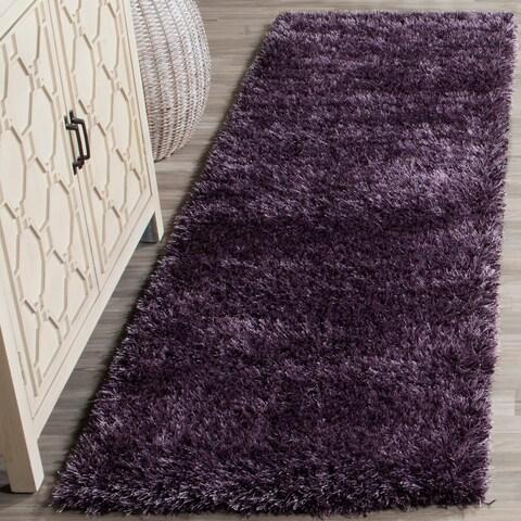 "Safavieh Charlotte Shag Lavender Plush Polyester Rug - 2'3"" x 8'"