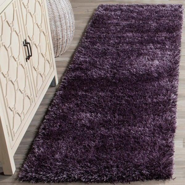 Safavieh Charlotte Shag Lavender Plush Polyester Rug (2'3