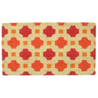 "Kosas Home Catalina Coir Handmade Doormat (18"" x 30"")|https://ak1.ostkcdn.com/images/products/11721605/P18641737.jpg?impolicy=medium"